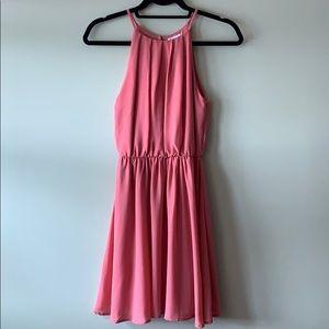 Lush Flawless Solid Dress - Dark Mauve